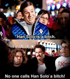 No One Calls Han Solo a Bitch! (Fanboys)  Check out more funny pics at killthehydra.com