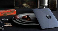 Wax Seal: Black on black envelope and seal.