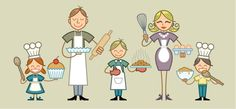 Famille patissiers