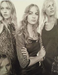 Natasha Poly, Sasha Pivovarova, Vanessa and Aymeline Valade by Steven Meisel for 50th Anniversary of Vogue Italia, September 2014