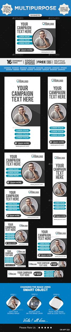 Multi Purpose Web Banners Template PSD | Buy and Download: http://graphicriver.net/item/multi-purpose-banners/9810159?ref=ksioks