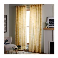 Mid-Century Cotton Canvas Etched Grid Curtain Horseradish ($29) via Polyvore featuring home, home decor, window treatments, curtains, polka dot window treatments, window coverings, canvas curtains and mid century modern curtains