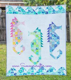 These elegant sea horses, dancing in the currents, come together quickly using corner units and half square triangles. It's even easier using...