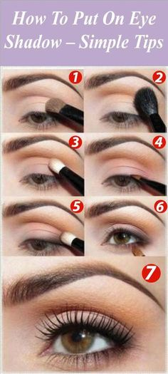 With all of the different styles of makeup out there, at some point you have to learn how to put on eyeshadow. Whether your only an occasional wearer of eyeshadow or a daily addict,Discover more: How To Put Eyeshadow, Eyeshadow For Brown Eyes, Blending Eyeshadow, Makeup For Brown Eyes, Eyeshadow Looks, Eyeshadow Makeup, Eyeshadow Palette, Eyeshadows, Makeup Brushes