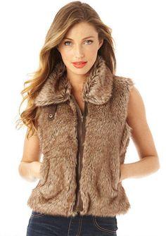 Faux Fur Vest - View All Outerwear