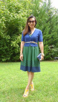 #landsend dress #oldnavy cardi #target wedges #katespade wallet & other accessories #jcrew #f21