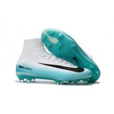 best cheap e4f53 5a45b Botas De Futbol Nike Mercurial Superfly V Light Aqua FG Verde Negro Blanco  Volt. Nike Mercurial Superfly V FG Top Soccer Shoes White Blue Black