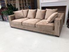 Sofa Taupe Velvet Sofa Ziernagel Gepolstert Breite 250 Cm Sofa Polster Holz