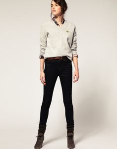 Boyish tops and sweaters were made for girls in leggings and skinny jeans. The boys just haven't admitted it yet.