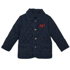 It doesn't get much cuter than this @Orient Expressed monogrammed barn jacket! Sizes 2-10.