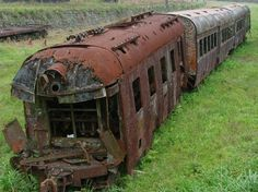 Abandoned train.Design and build your own interior space. Make a home here.