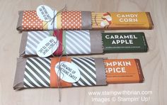 Candy Bar Wrappers with Tag a Bag Gift Bags and Stampin' Up! papers