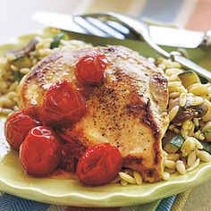 5-Ingredient Chicken Recipes | Balsamic Chicken with Roasted Tomatoes | CookingLight.com