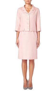 Balenciaga haute couture pink skirt suit, circa 1965