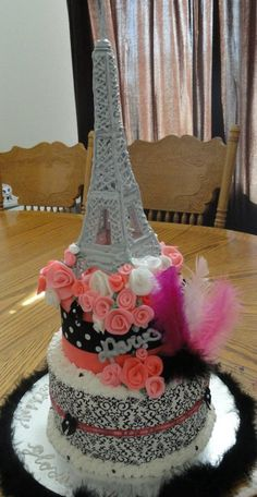 My daughter-in-law knows how much I love Paris so she made this Eiffel tower cake for my birthday!