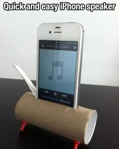 I know my friends have $100 phone/iPod speakers. Yeah, well I don't. So now I can get one FOR FREE. GO TOIET PAPER ROLLS. (Haha, anyone with expensive speakers wasted their money. All they had to do was go to the bathroom.)
