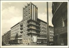 """The Prague's first scyscraper"" - House of Firemen, Prague Vinohrady, built 1929 - architects Moravec and Pražák (photo 1936)"