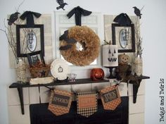 Captivating Scary Halloween Mantle Design Ideas With Wall Mounted ...