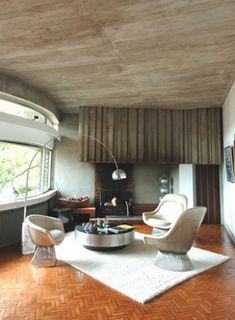 Somewhere I would like to live: Bois-le-Roy / Claude Parent Living Etc, Living Area, Modern Room, Mid-century Modern, Interior Decorating, Interior Design, Bohemian Interior, Tallit, Retro Home
