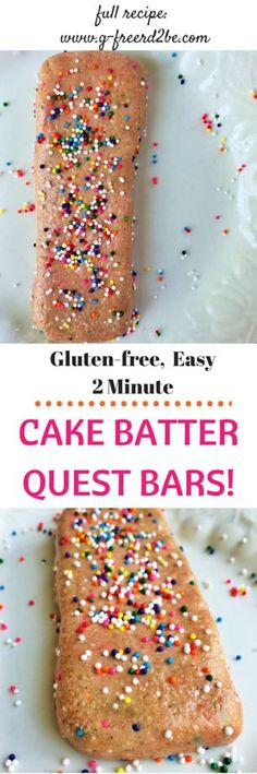 BIRTHDAY CAKE BATTER Quest Protein Barsthe Easiest Homemade Recipe Full Of Fiber And Low In Sugar Fat Carbs Each Bar Is Only 200