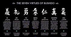 Bushido Code the seven virtues