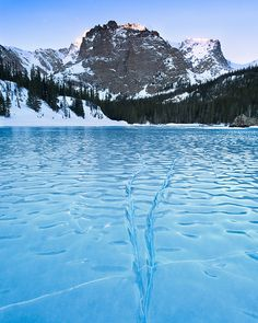 Frozen Veins - Cathedral Wall - Rocky Mountain National Park - Colorado (by wboland) Rocky Mountains, Seen, Rocky Mountain National Park, The Great Outdoors, Places To See, Beautiful Places, Amazing Places, Beautiful Scenery, Nature