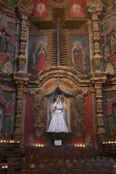 San Xavier Del Bac Mission, Tucson, Arizona. You have t see the interior to believe it...amazing.