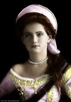 Grand Duchess Maria Nikolaevna Romanova (26 Jun 1899-17 Jul 1918), 3rd child of Tsar Nicholas II Romanov (1868-1918) Russia & his wife Alix-Alexandra Feodorovna (1872-1918) Hesse, Germany.