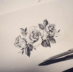 dessin-tatouage-fleur-petite-rose-tatouage-image-rose-beauté