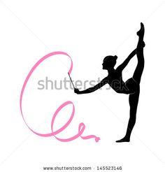Silhouette of gymnastic girl by Skumer, via Shutterstock