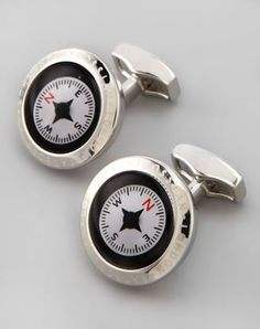 Compass Cuff Links ($195) | The Mindful Shopper | Father's Day Gifts