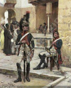 Dragoons of the line, maybe 1st Regiment. - Maurice Henri Orange