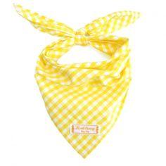 Dreieckstuch – Halstuch – Vichy3 gelb