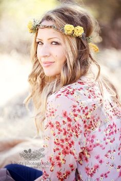 hairstyle with flower crown
