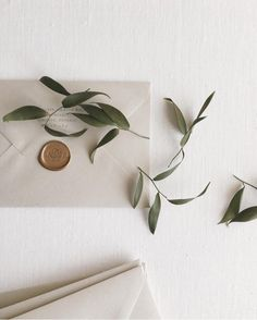 Gray Envelope with Gold Wax Seal by Paula Lee Calligraphy