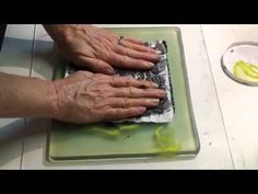▶ Gel print from quilted Lutradur pt2 - YouTube