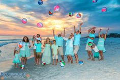 A lovely and colorful group photo idea.