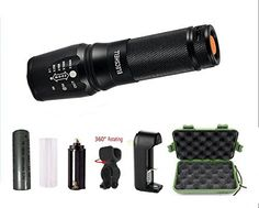 ELECSHELL U1 LED FlashlightTo 1200 LM Tactical FlashlightCree XML T6 Portable Outdoor Water Resistant Torch Flashlight with Adjustable Focus and 5 Light Modes18650 Lithium Ion Battery ** Be sure to check out this awesome product. Note:It is Affiliate Link to Amazon.