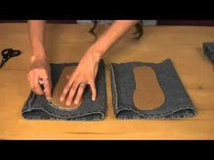 Aprenda a transformar o seu jeans em lindo chinelos | Cantinho do Video