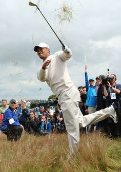Tiger Woods at British Open