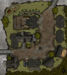 Adventure Map - Hamlet - Day - No Grid