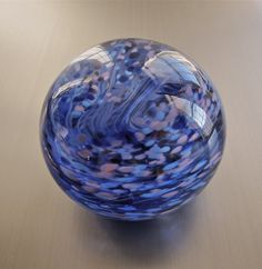 Purple and Pink Swirl Glass Paperweight by nautical2004 on Etsy, $20.00