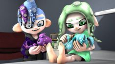Memory by on DeviantArt Splatoon 2 Game, Splatoon Squid, Nintendo Splatoon, Kawaii Bags, Kawaii Cute, Art Drawings Sketches Simple, Cute Drawings, Splatoon Tumblr, Lusamine Pokemon