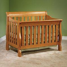 Solid Wood Amish Made Transition Crib