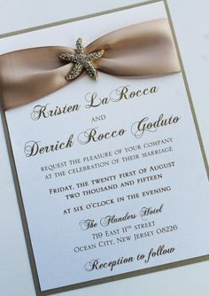 Champagne Gold Wedding Invitation with gold  by atouchofsunshine4