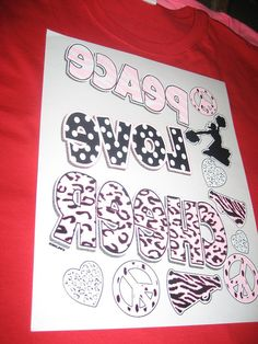 Peace Love Cheer Heat Press Transfer to Die For by cthorses66, $3.99