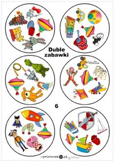 Duble - zabawki - Printoteka.pl Montessori, English Activities, Activities For Kids, Teaching English, Pre School, Board Games, Free Printables, Decorative Plates, Lego