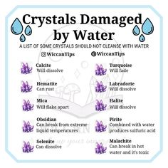 Never Put These Crystals Into Water Never Put These Crystals Into Water,wicca Using water to cleanse this crystals can cause different types of water damage Related einfache Meal Prep Rezepte.