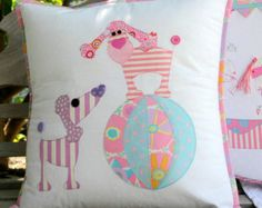 Pip and Ellie Applique Cushion PDF Pattern  instant download