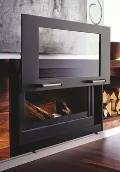 Charming Balance Nature (Wood Burning) Fireplace, From Beauty Fires. Fireplace  Cover(slide To Left For Fire Use) Create A Separate Matching Cover For Wood  Storage.